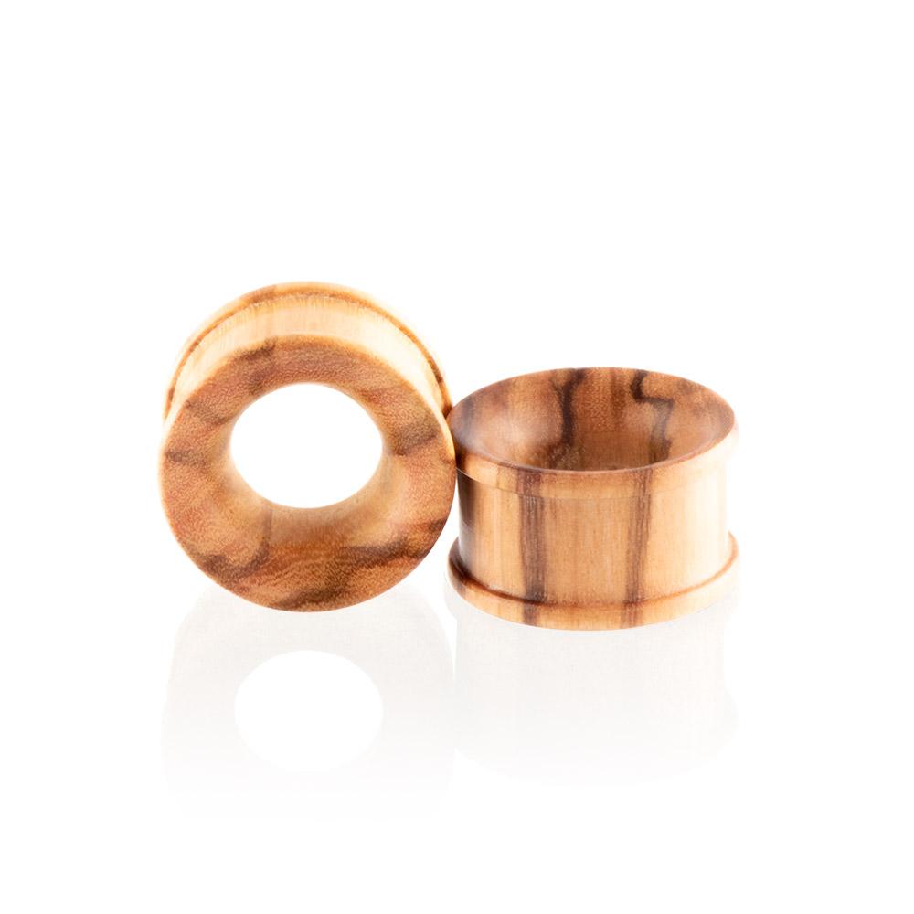 Dilatación madera olivo Tunnel para oreja en tienda Online Piercings y Dilataciones