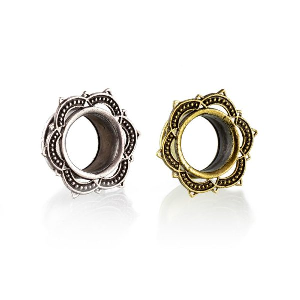Dilatación metal mandala Tunnel para oreja en tienda Online Piercings y Dilataciones