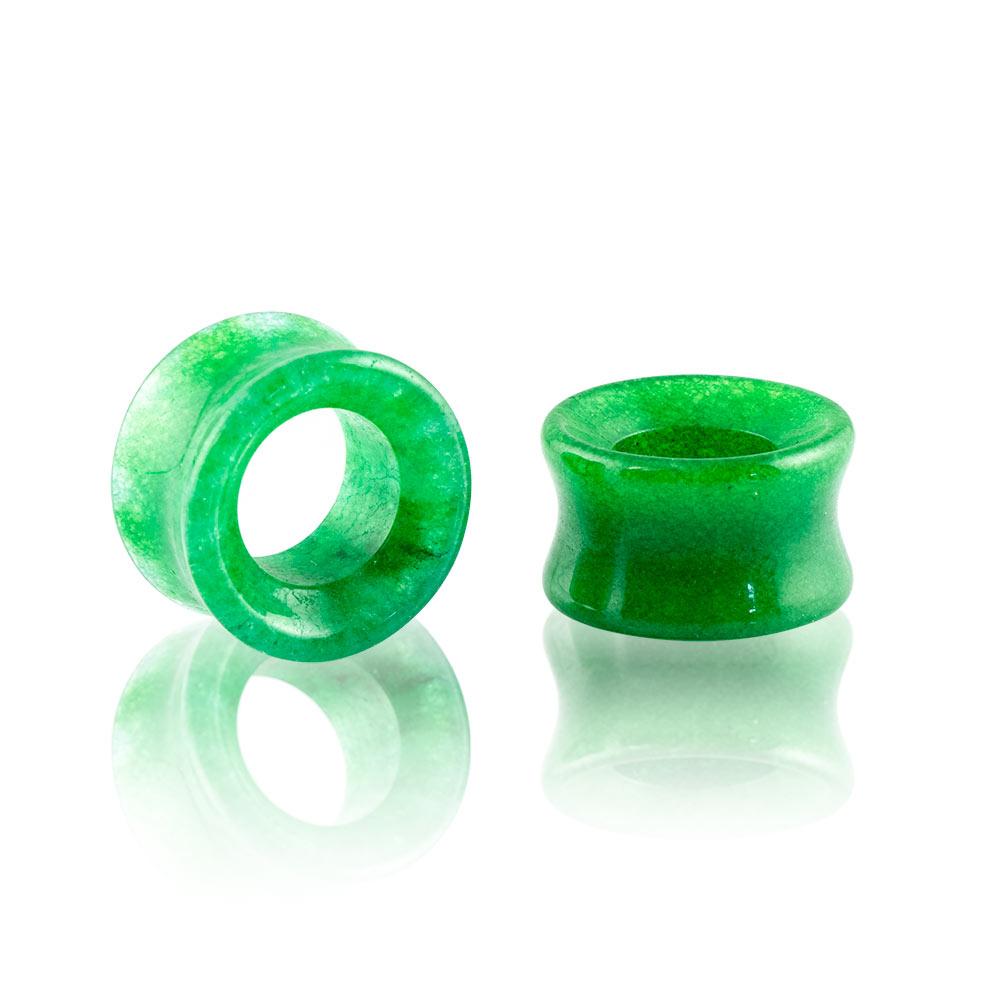Dilatación piedra Jade Tunnel para oreja en tienda Online Piercings y Dilataciones