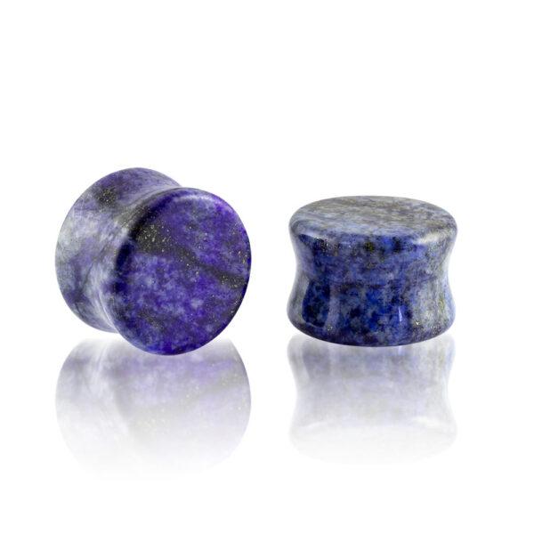 Dilatación piedra lapislázuli plug para oreja en tienda Online Piercings y Dilataciones