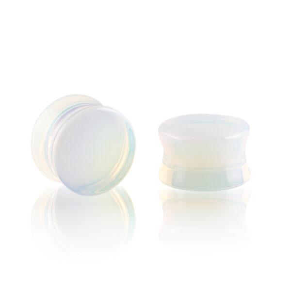 Dilatación piedra lunar plug para oreja en tienda Online Piercings y Dilataciones