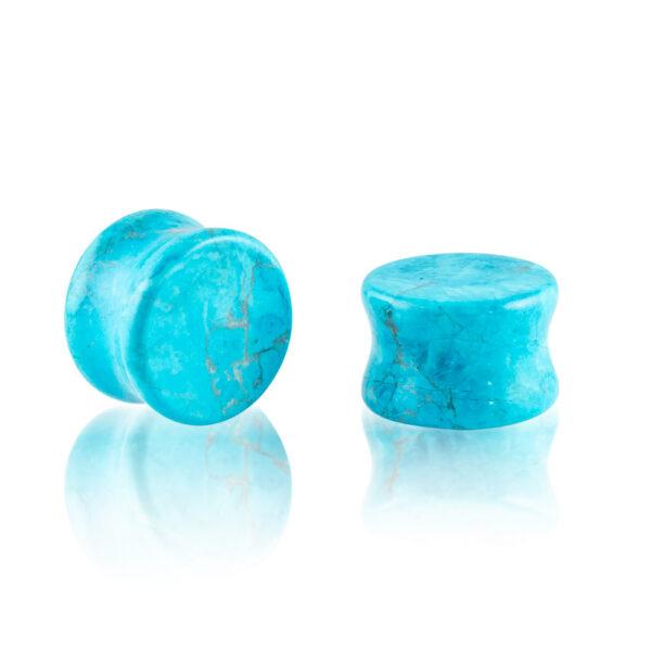 Dilatación piedra turquesa plug para oreja en tienda Online Piercings y Dilataciones