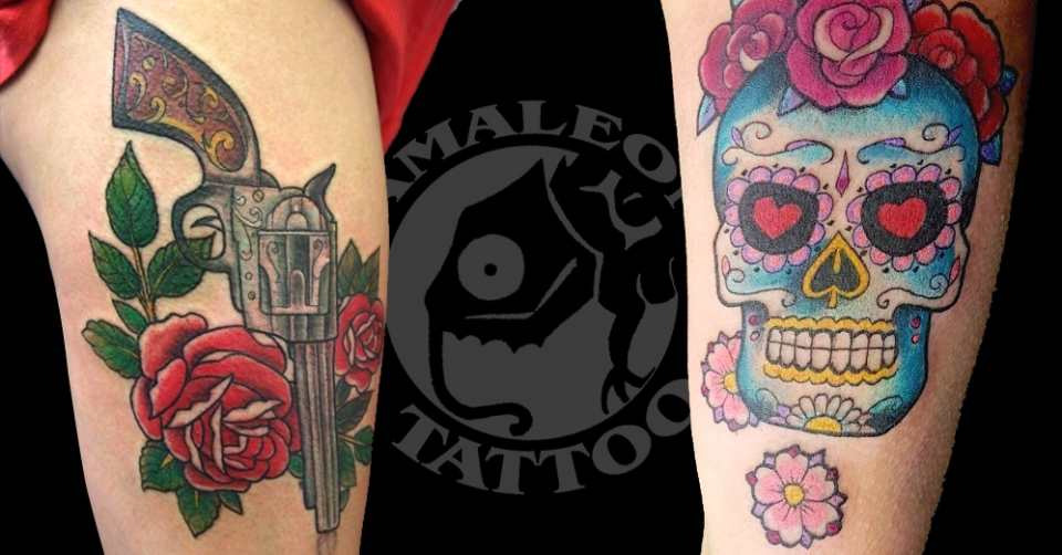 Old School en Camaleon Tattoo Lugo