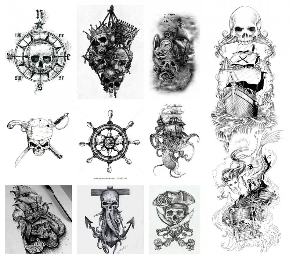 Significado Y Diseños De Tatuajes De Piratas Y Barcos