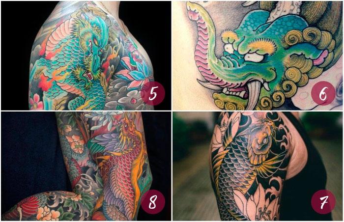 Áˆ Guia De Tatuajes De La Mitologia Japonesa Camaleon Tattoo There are multiple japanese words refer to the name of tattoo, irezumi, horimono and shisei. tatuajes de la mitologia japonesa